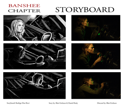Banshee Chapter - Storyboard -sample Frames by rdricci