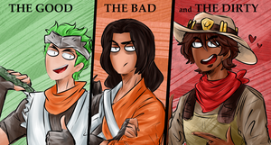Overwatch - The Good, The Bad and The Dirty by akkame