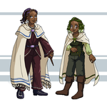 Leif and Thorn - Laurel and Holly by ErinPtah