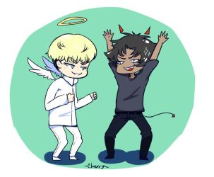 Disaster Duo (Devilman crybaby fanart) by cuteredcherry