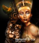 nefertiti and cat by mahmoudz