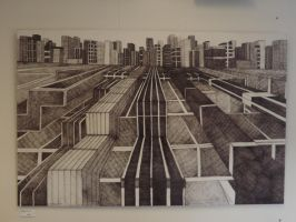Finished fine liner drawing 170cm x 120cm by awesomedude2k