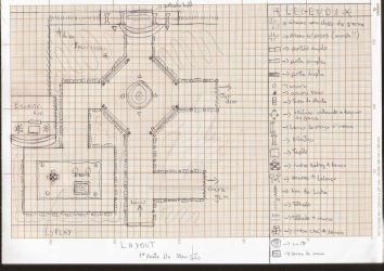 Elementary Project - Mansion Outside Layout Sketch by HeadmasterGD