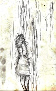 in the rain by fabala-the-artist