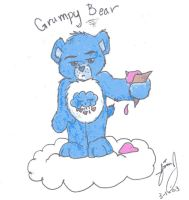 Poor Grumpy Bear by HuntressGuya