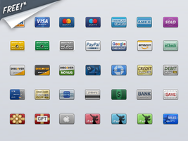 Credit Card Icons by lharboe
