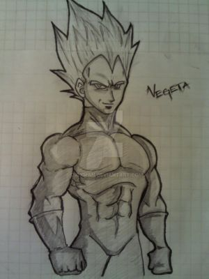 Vegeta SS2 Sketch by dioxman