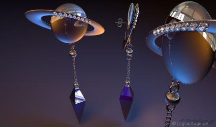 Sailor Moon - Saturn Ohrringe - Earrings 3D by digitalAuge