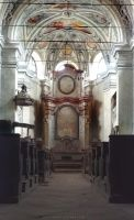 In a Church on a Hill Surrounded with a Cemetery by ondrejZapletal