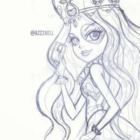 Lizzie Hearts from Ever After High sketch by AzZzAeLL