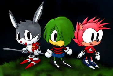 Johnny Amy and Tekno of the STC by foxheadTails