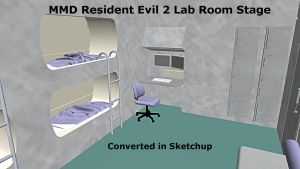 MMD Resident Evil 2 Lab Room Stage DL by xXFrenchToastXx