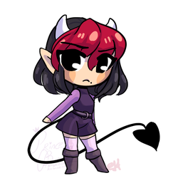 Itty Bit Chibi Commission for NickyVendetta by bunnyb133