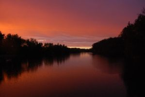 The River during Sunset. by veWoz