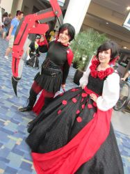 ruby rose and ruby rose dress by metalwolf77777