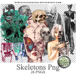 Skeletons PNGs by BeBraveResources