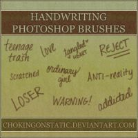 handwriting brushes by chokingonstatic