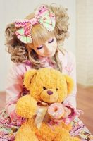 pink donat for my little bear by Kitana123