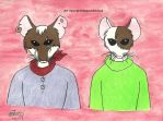 Two mice within Redwall by MaguschildCloud