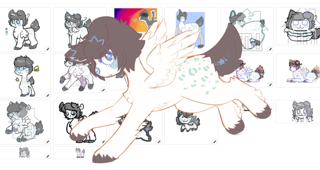 (sold) taking offers on old design (+20 art pics) by royalraptors