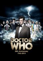 Doctor Who - 50th Anniversary Poster by DisneyDoctorWhoSly23