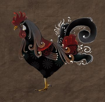 Rosemaling Rooster by carlylyn
