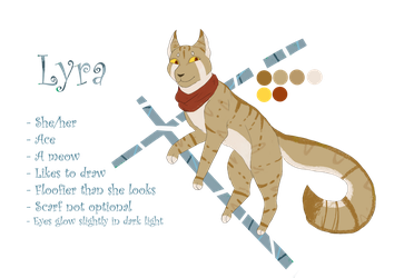 New Sona Ref Sheet - Lyra by Bluesunrisecat