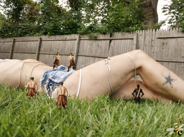 Backyard Bondage (Miss Valz) by LittleBee8705