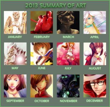 2013 Summary Of Art by wind-hime-kaze
