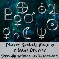 Planet Symbol Brushes by SerendipityStock