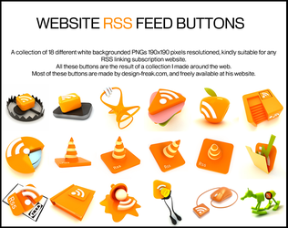 RSS feed button pack by deviantdark