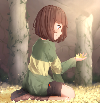 Admiring the Flowers by Sasoura