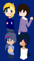 My 4 Mane Ocs As Humans by junetheicecat