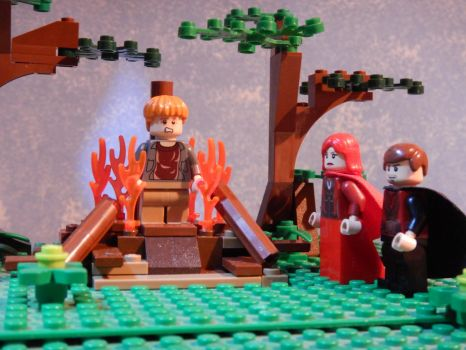 Lego Game of Thrones- Melissandre's pyre by JOSGUI