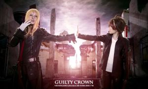Guilty Crown    OUMA SHU and TSUTSUGAMI GAI by LALAax