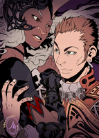 Final Fantasy XII: Fran + Balthier by karniz