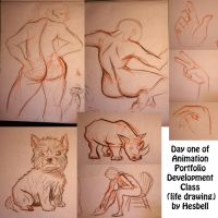 Day One (Life Drawing) by Hesbell