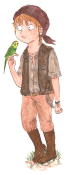 Pirate with a budgie. by Nat-n