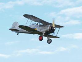 Gloster Gladiator Fast Pass by davepphotographer