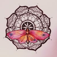Mandala - Butterfly watercolor by elenoosh