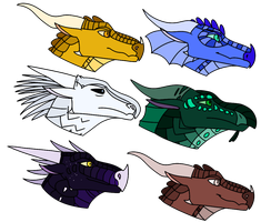 WOF Dragon Adopts [CLOSED - 0/6] by SkaiaGalaxy