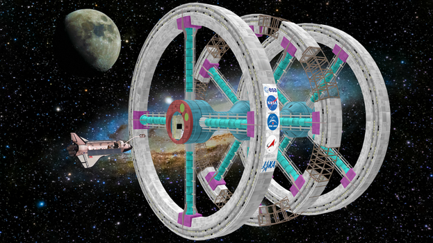 [DL] MMD Space Station by Maddoktor2