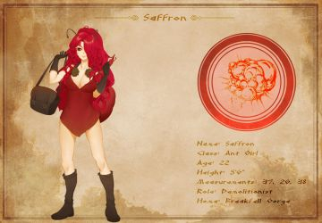 Character Sheet - Saffron by AG-Publishing