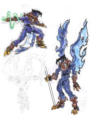 soul reaver sketches coloured by AlexBaxtheDarkSide