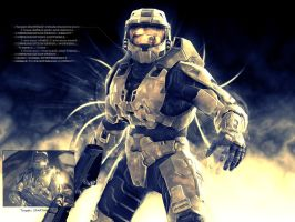 Halo 3 Abstract Wallpaper by Pokehkins