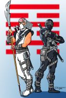 Snake Eyes and Storm Shadow by DrawnToPerfection