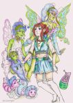 Janin Snow with their Digimon Falionmon (colo)... by sunnight1
