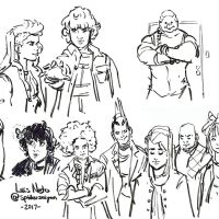 Inktober 2017 - Day-25 - Stranger Things Doodles by Spidersaiyan