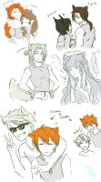 Humanized Warriors Doodles 3 by runtyiscute1999