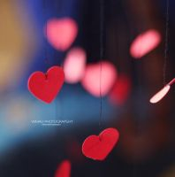 Floating hearts by wihad